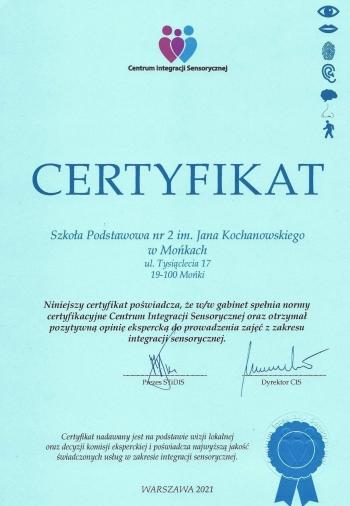 Certyfikat OSE