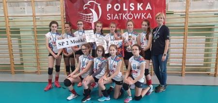 Wicemistrzynie województwa podlaskiego w Igrzyskach Dzieci w piłce siatkowej