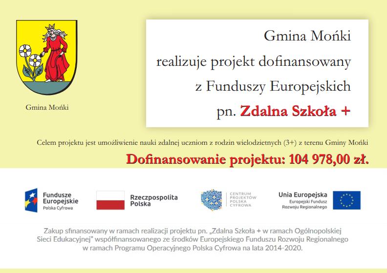 Projekt pn. Zdalna Szkoła +